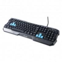 E-BLUE Klávesnice Polygon, herní, černá, drátová (USB), US, odolná proti polití