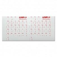 Přelepky LOGO na klávesnice, červené, česko-slovenské, cena za 1 ks