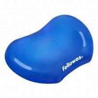 Podložka pod myš CRYSTAL, ergonomická, gelová, modrá, Fellowes