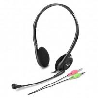 Genius, HS-200C, sluchátka s mikrofonem, černá, 3.5 mm jack