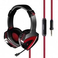 A4tech Bloody G500, sluchátka s mikrofonem, ovládání hlasitosti, černá, herní sluchátka, 3.5 mm jack + rozdvojka