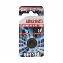 Baterie lithiová, konflíková, CR2025, 3V, Maxell, blistr, 1-pack