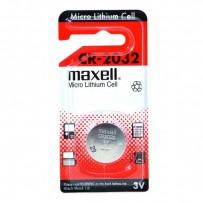 Baterie lithiová, konflíková, CR2032, 3V, Maxell, blistr, 1-pack