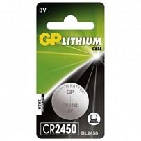 Baterie lithiová, konflíková, CR2450, 3V, GP, blistr, 1-pack