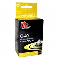 UPrint kompatibilní ink s PG40, black, 25ml, C-40B, pro Canon iP1600, 2200, MP150, 170, 450