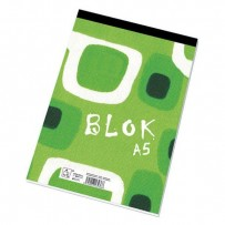 Blok poznámkový, čtverečkovaný, A5, 50listů,poznámky