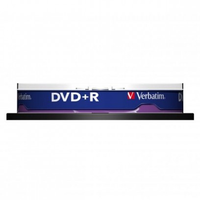 Verbatim DVD+R, 43498, DataLife PLUS, 10-pack, 4.7GB, 16x, 12cm, General, Advanced Azo+, cake box, Scratch Resistant, bez mož...