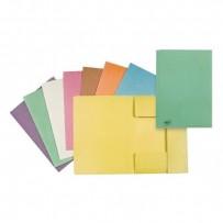 Mapa tříklopá H, A4, žlutá, Hit Office, eko, cena za 1ks, 10ks