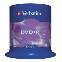 Verbatim DVD+R, 43551, DataLife PLUS, 100-pack, 4.7GB, 16x, 12cm, General, Advanced Azo+, cake box, Scratch Resistant, bez mo...