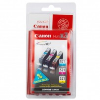 Canon originální ink CLI521, cyan/magenta/yellow, blistr, 3x9ml, 2934B010, 2934B007, Canon iP3600, iP4600, MP620, MP630, MP980