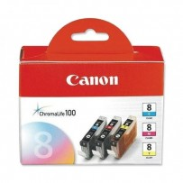 Canon originální ink CLI8CMY, cyan/magenta/yellow, 0621B029, 0621B026, Canon iP4200, iP5200, iP5200R, MP500, MP800