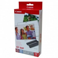 """Canon Papír pro termosublimační tiskárny, papír, bílý, CP-220, 330, 10x15cm, 4x6"""", 36 ks, KP36IP, termosublimační,s inkoustov..."""