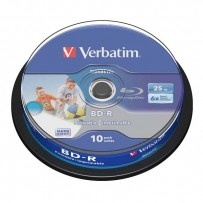 Verbatim BD-R SL, Hard Coat protective layer, 25GB, Pack Spindle, 43804, 6x, 10-pack, pro archivaci dat
