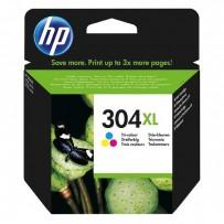HP originální ink N9K07AE, HP 304XL, Tri-color, 300str., 7ml, HP DeskJet 2620,2630,2632,2633,3720,3730,3732,3735