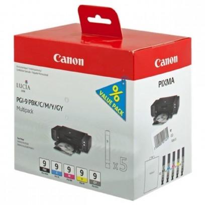 Sada Canon PGI-9 multipack PBK, C, M, Y, GY (5ks)