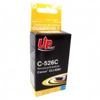 UPrint kompatibilní ink s CLI526C, cyan, 10ml, C-526C, pro Canon Pixma MG5150, MG5250, MG6150, MG8150, s čipem