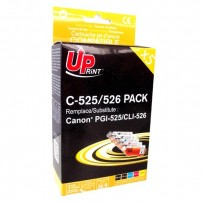 UPrint kompatibilní ink s CLI526, 2xblack/1xcyan/1xmagenta/1xyellow, C-525/526 PACK, pro Canon Pixma MG5150, MG5250, MG6150,...