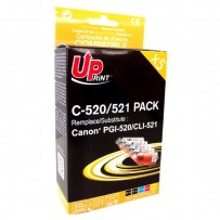 UPrint kompatibilní ink s CLI521, 2xblack/1xcyan/1xmagenta/1xyellow, C-520/521 PACK, pro Canon iP3600, iP4600, MP620, MP630, ...