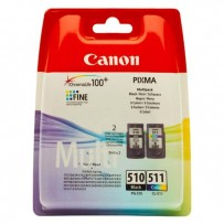 Sada Canon PG-510 + CL-511, multipack, blistr, černá + barevná