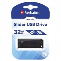 Verbatim USB flash disk, 2.0, 32GB, Slider, černý, 98697, pro archivaci dat