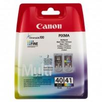 Sada Canon PG-40 + CL-41 multipack, černá + barevná, blistr
