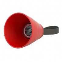 NoName Bluetooth reproduktor SALI, 3W, regulace hlasitosti, červený, skládací, voděodolný, bluetooth+USB+3.5mm konektor