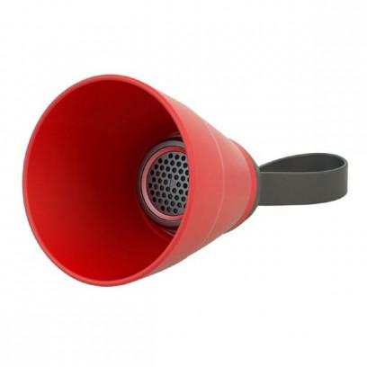 NoName Bluetooth reproduktor SALI, 3W, červený, regulace hlasitosti, skládací, voděodolný, bluetooth+USB+3.5mm konektor
