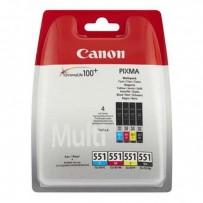 Canon originální ink CLI551, CMYK, blistr s ochranou, 4x7ml, 6509B008, Canon PIXMA iP7250, MG5450, MG6350
