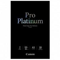 Canon Photo Paper Pro Platinum, foto papír, lesklý, bílý, A3, 300 g/m2, 20 ks, PT-101 A3, inkoustový