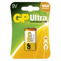 Baterie alkalická, R61, 9V, GP, blistr, 1-pack, ULTRA