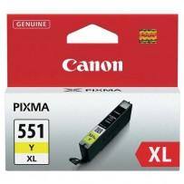 Canon originální ink CLI551Y XL, yellow, 11ml, 6446B001, high capacity, Canon PIXMA iP7250, MG5450, MG6350, MG7550