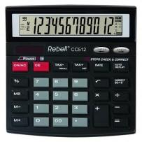 Rebell Kalkulačka RE-CC512 BX, černá, stolní, dvanáctimístná