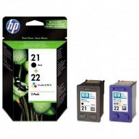 HP 21 + HP 22, černá + barevná, HP C9351AE + HP C9352AE, blistr
