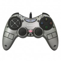 Gamepad Defender Zoom, 10tl., USB, šedý, vibrační, Windows XP/VISTA/7/8/10