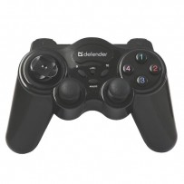 Gamepad Defender AAA, GAME MASTER WIRELESS, 2.4 GHz, 12tl., bezdrátové, černý, 3x AAA, vibrační, Windows 2000/XP/Vista/7