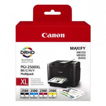 Sada Canon PGI-2500XL multipack černá + modrá + červená + žlutá