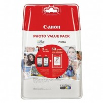 Canon originální ink PG-545 XL/CL-546 XL + 50x GP-501, black/color, 8286B006, Canon Pixma MG2450, 2555, MX495, Promo pack