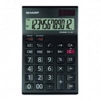 Sharp Kalkulačka EL-125TWH, černo-bílá, stolní, dvanáctimístná