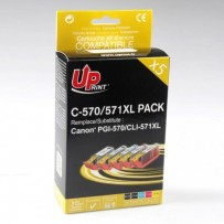 UPrint kompatibilní ink s CLI571, 2xblack/1xcyan/1xmagenta/1xyellow, C-570/571XL PACK, high capacity, pro Canon PIXMA MG5750,...