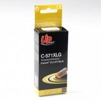UPrint kompatibilní ink s CLI571GY XL, grey, 300str., 11ml, C-571XLGY, high capacity, pro Canon PIXMA MG7750, MG7751, MG7752,...