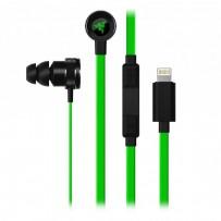 Razer Hammerhead for iOS, sluchátka s mikrofonem, ovládání hlasitosti, černá, lightning