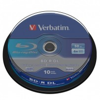 Verbatim BD-R, Dual Layer 50GB, cake box, 43746, 6x, 10-pack, pro archivaci dat