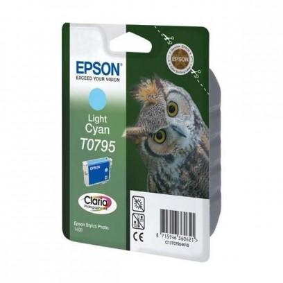 Epson originální ink C13T079540, light cyan, 11,1ml, Epson Stylus Photo 1400