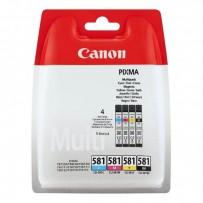 Canon originální ink CLI581 CMYK Multi Pack, CMYK, blistr, 4*5,6ml, 2103C004, Canon PIXMA TR8550,TS6150,TS6151,TS8150,TS8151,...