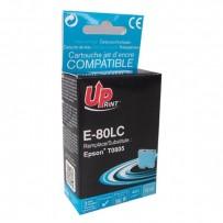 UPrint kompatibilní ink s C13T08054011, light cyan, 11ml, E-80LC, pro Epson R265, RX560, R360