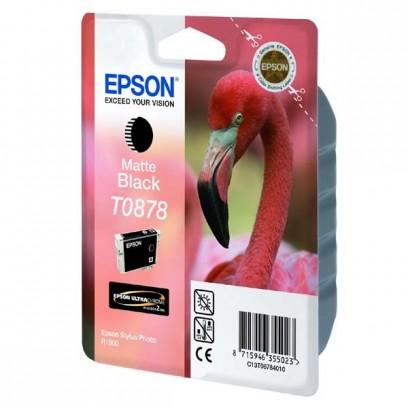 Epson originální ink C13T08784010, matte black, 11,4ml, Epson Stylus Photo R1900