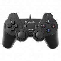 Gamepad Defender Omega, 12tl., USB, černý, vibrační, Windows R XP/VISTA/7/8/10