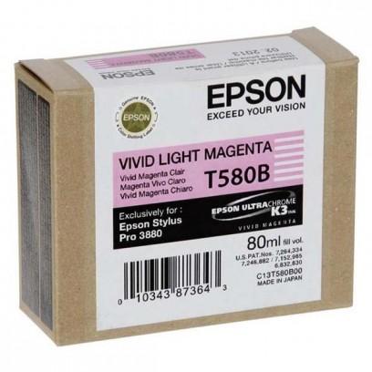 Epson originální ink C13T580B00, light vivid magenta, 80ml, Epson Stylus Pro 3800