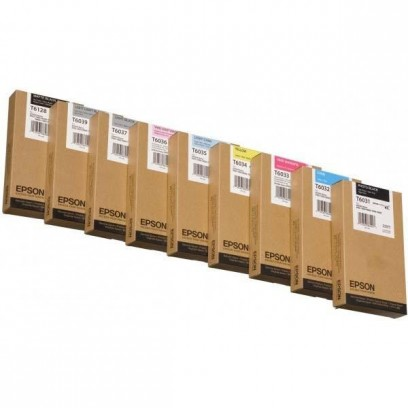Epson originální ink C13T603700, light black, 220ml, Epson Stylus Pro 7800, 7880, 9800, 9880