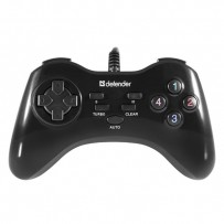 Gamepad Defender Game Master G2, 13tl., USB, černý, turbo režim, Windows 2000/XP/Vista/7/8/10